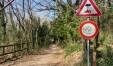 L'accesso alla Montagnola arrivando da Gabicce Monte seguendo la strada Panoramica