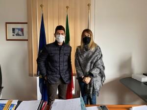il Sindaco Rossi in compagnia dell'Assessore regionale Giorgia Latini.
