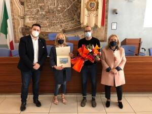 Marcella Tinazzi salutata da Ricci, Ceccarelli e Perugini