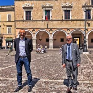 Il sindaco Matteo Ricci con il nuovo Prefetto Tommaso Ricciardi