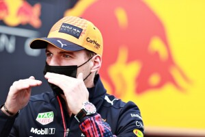 Verstappen spiega le difficoltà che lo hanno relegato al terzo posto (Photo by Mark Thompson/Getty Images) // Getty Images / Red Bull Content Pool  // SI202104290221 // Usage for editorial use only //