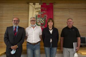 Da sinistra Giuseppe Paolini, Marco Domenicucci, Elisabetta Cecchini e Roberto Cordella