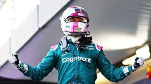 La gioia di Vettel secondo