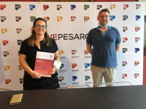 L'assessore Francesca Frenquellucci e il professor Gabriele Comodi