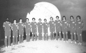 Ken Brady nella foto della VL 1975/76, la prima sponsorizzata dalla Scavolini (Da Victoria Libertas Pesaro 1947-1987)