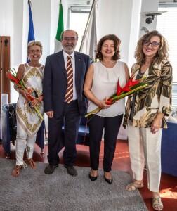 Da sinistra, Anna Gennari, Giuseppe Paolini, Renata Falcomer, Patrizia Paoloni