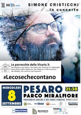 Simone Cristicchi locandina con parrocchie