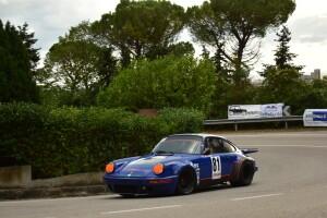 La potente Porsche Carrera di Brando Motti (Foto Michele Puccioni)